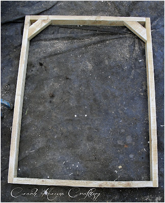 scrap wood frame, garden space saver, recycled wood frame
